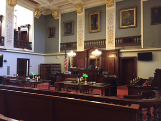 Marquette County Court room
